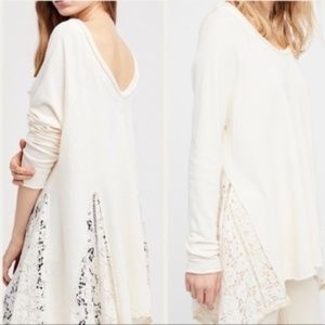 Free People No Frills Cotton Lace Top